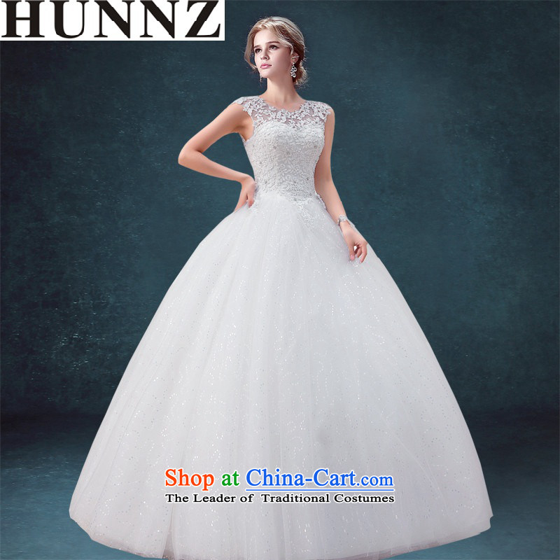 Hunnz long 2015 lace a shoulder straps princess field Skirt holding a minimalist bride wedding White?XL