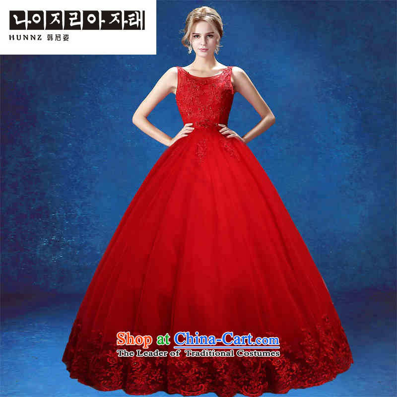 Hannizi 2015 stylish and simple style with court Sau San bon bon skirt bride wedding Red Red�M