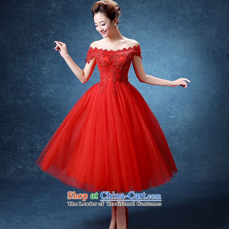 The knot True Love 2015 new autumn red wedding lace large wedding dresses Sau San marriages bows in long red XL