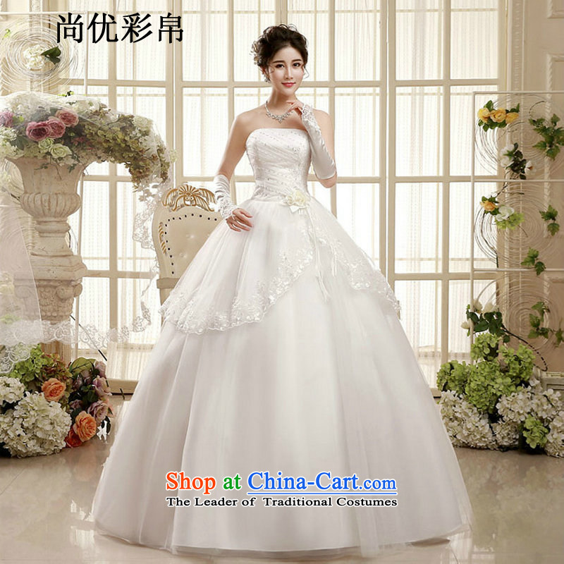 There is also optimized 8D wedding dresses new summer marriages Korean pregnant women and chest to wedding video thin large xs1002 White?XXL Package