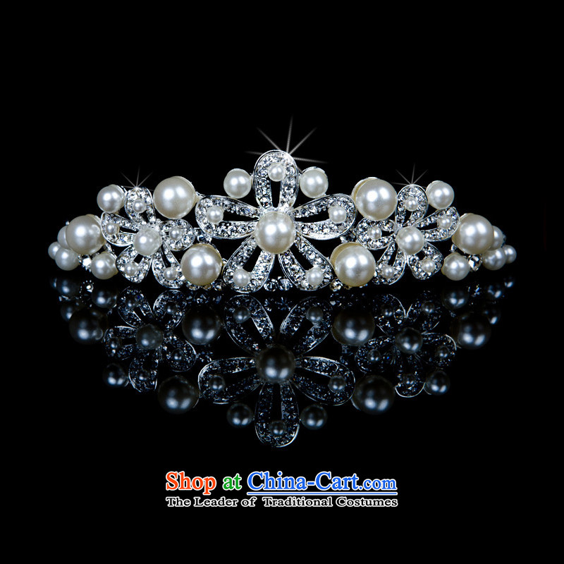 ?The new 2015 International Friendship marriage jewelry pearl necklaces crown earrings bride jewelry three kit wedding accessories crown