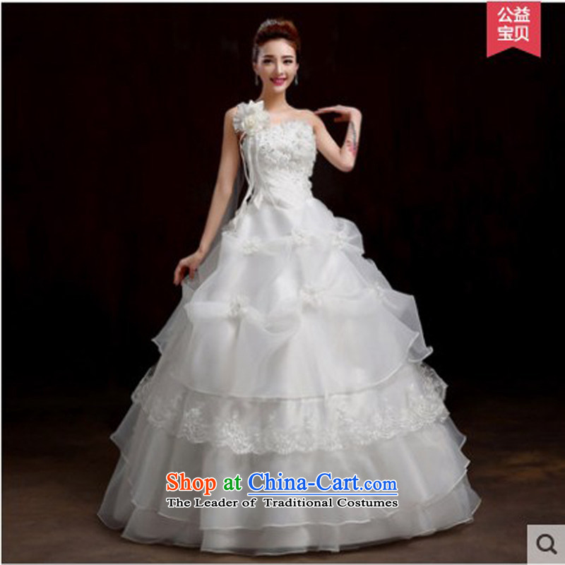 On the following new paragraph 2015 autumn and winter wedding dresses Korean fashion and then your shoulders to larger graphics thin tail align to the Sau San white do not returning size contact customer service