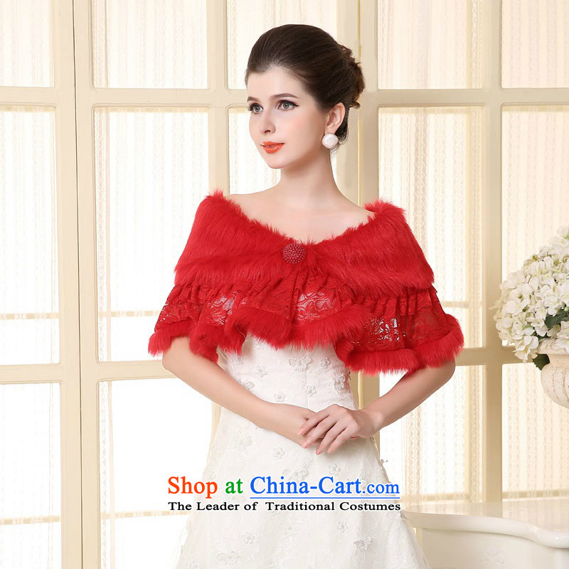Time the?new 2015 Syria lace gross shawl wedding dresses qipao bridesmaid marriage jacket bride shawl red autumn and winter red