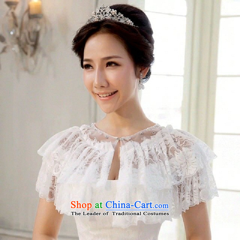 Time the?new 2015 Syria marriages lace shawl wedding dresses qipao accessories of autumn and winter thin red, white-haired yarn
