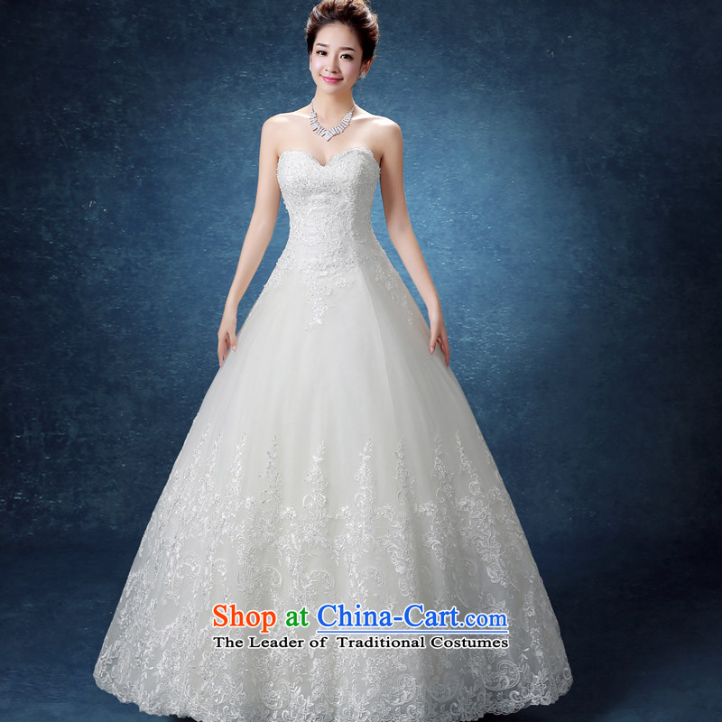 The knot true love of autumn and winter 2015 new stylish wedding dresses marriages video thin Korean shoulders alignment with chest lace white?S