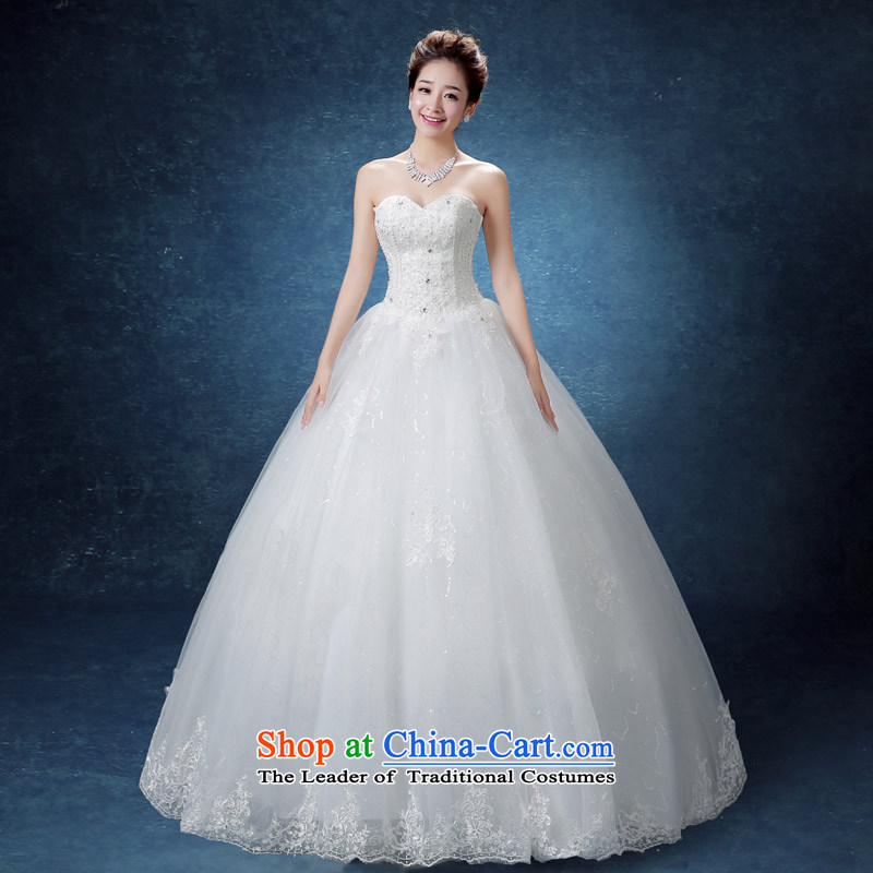The knot true love Korean Style New 2015 wedding dresses alignment with chest marriages women pregnant women for larger thick MM video thin wedding summer White?XL