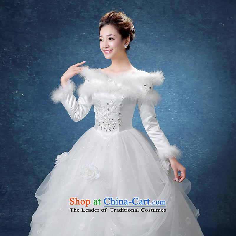 The knot true love winter straps wedding dresses 2015 New Korea long ...