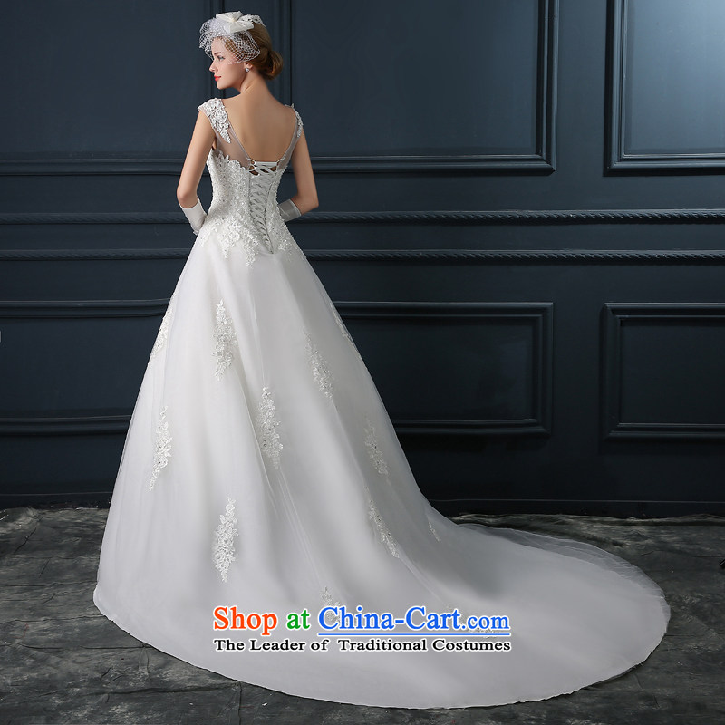 Wedding dress 2015 new stylish and simple one shoulder higher side custom Sau San small trailing wedding-won A swing tail)�L