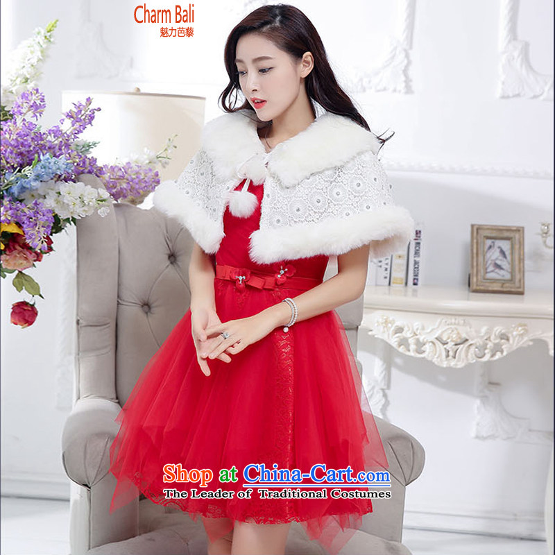 Charm and Asia 2015 Fall/Winter Collections Korean anointed chest Princess Sau San bon bon skirt wedding dress skirt shawl two sets of red kit�S