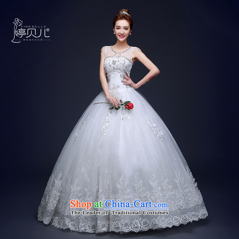 Wedding dresses 2015 Summer new Korean shoulders diamond marriages to align graphics Sau San thin shoulders a female white S