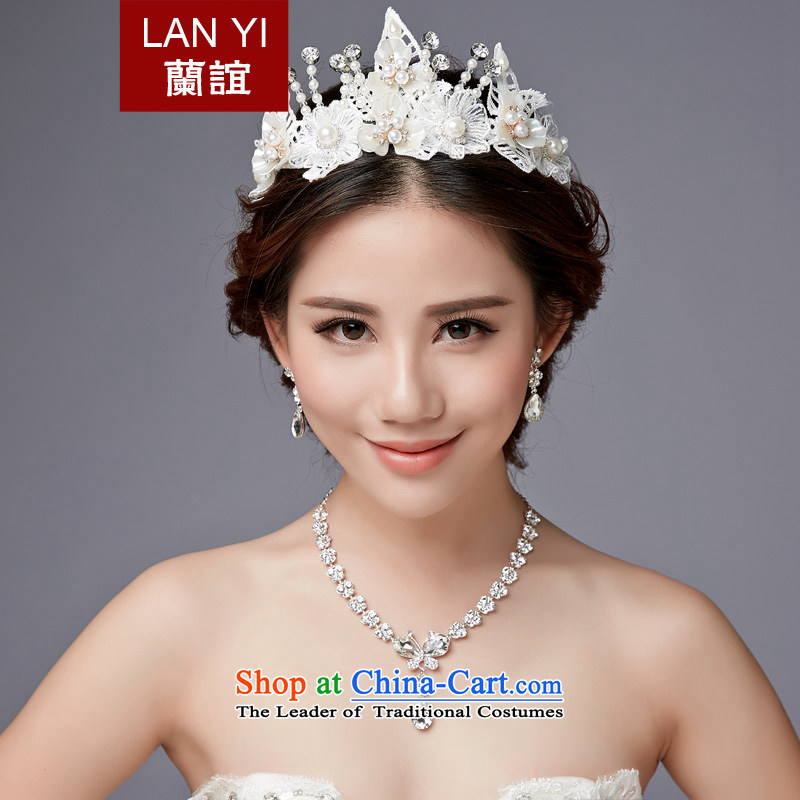 The Friends of the bride jewelry and ornaments three kit wedding accessories Korea wedding crystal diamond necklace earrings hair Accessories Kits
