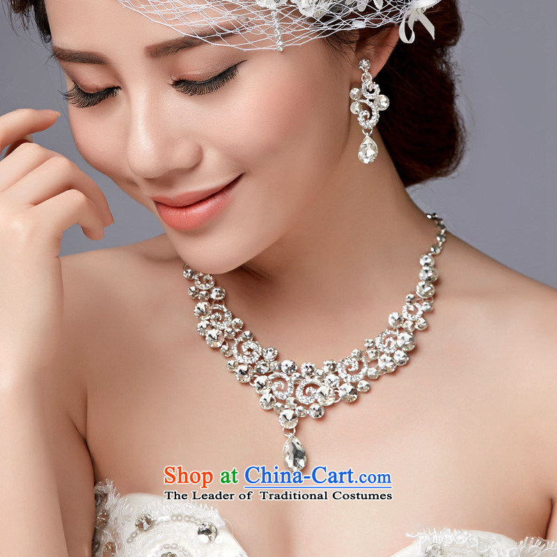 In聽2015, Friends bride wedding dresses accessories bride crown necklace earrings three piece bridal jewelry and ornaments wedding dresses accessories necklaces Earrings