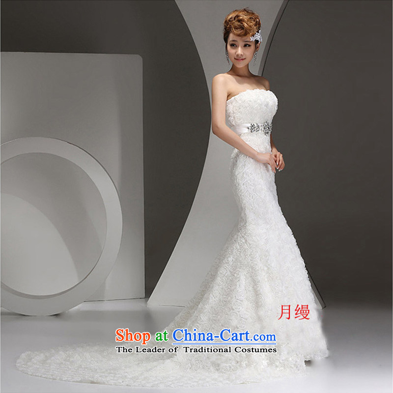 The following new paragraph on 2015 won the bride wedding dresses and chest minimalist autumn stereo roses crowsfoot Sau San tie small trailing white made no refunds or exchanges Size