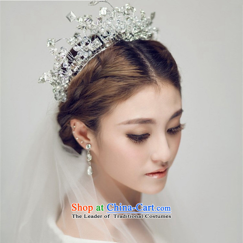 The Syrian brides head-dress time Korean lace water drill length headdress hairbands continental Queen's Head Ornaments Crown wedding was adorned with small crown are code
