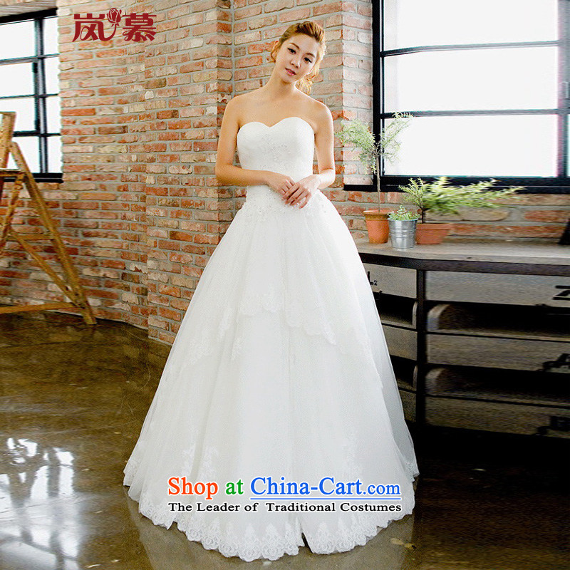 The sponsors of the new Korean autumn 2015 wrapped chest foutune align to skirt internal bon bon petticoat Natural Punta Arenas bride wedding?XL( pure white breast 95/ waist79)