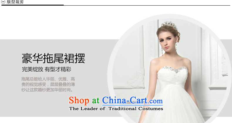 Wedding dress of autumn and winter 2015 new water drilling and chest pregnant women high waist wedding deluxe tail high-end custom western large white聽L pictures, Sau San price, brand platters! The elections are supplied in the national character of distribution, so action, buy now enjoy more preferential! As soon as possible.