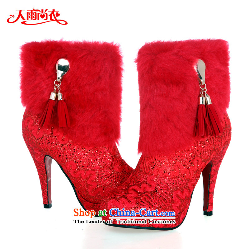 Rain-sang Yi marriages new winter boots marriages warm boots wedding shoes bootie XZ047 red 37 pictures, prices, brand platters! The elections are supplied in the national character of distribution, so action, buy now enjoy more preferential! As soon as possible.