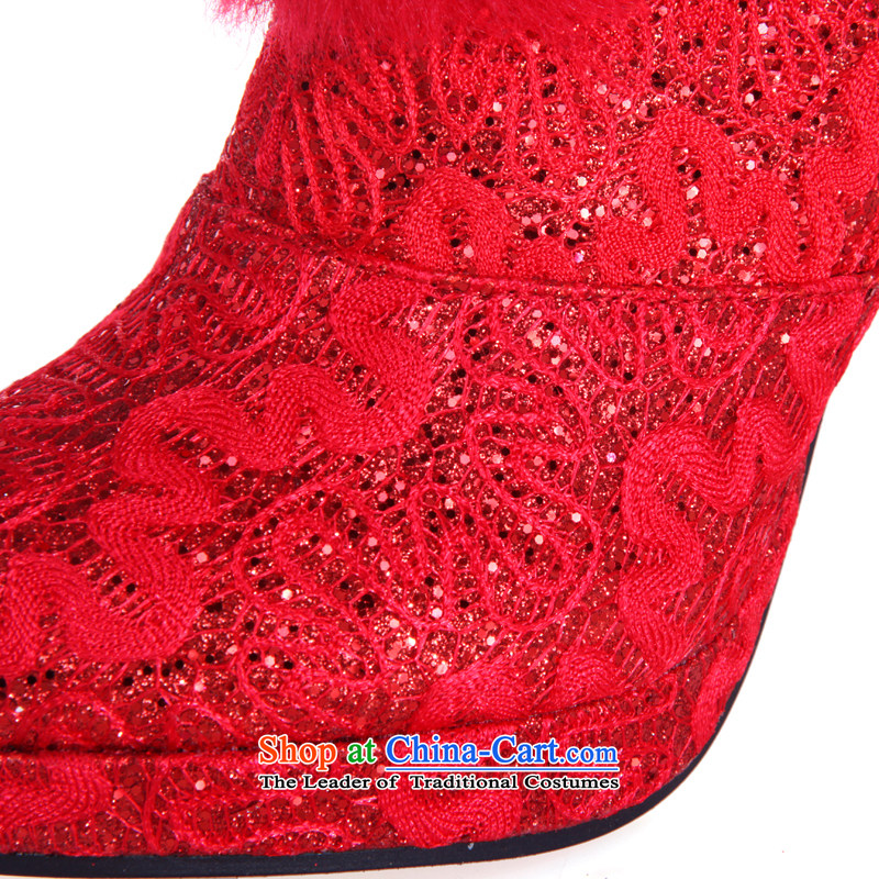 Rain-sang Yi marriages new winter boots marriages warm boots wedding shoes bootie XZ047 red 37, rain-sang Yi shopping on the Internet has been pressed.