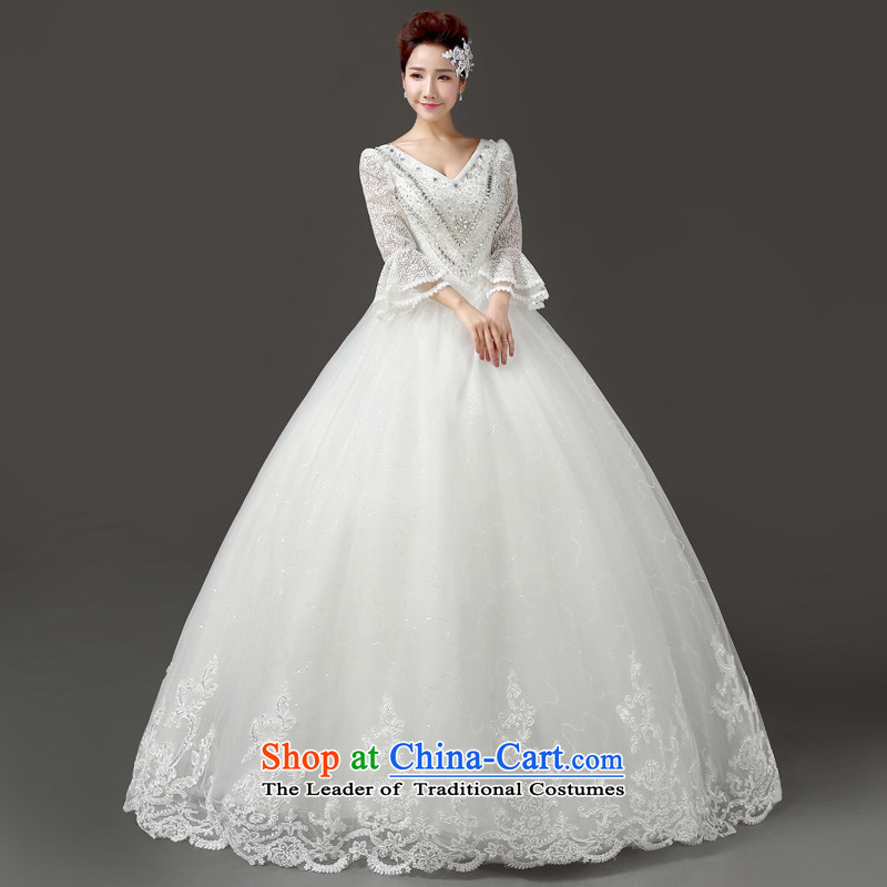 In 2015 the new friends marriages wedding of autumn and winter Korean version 9 to the thin word cuff shoulder marriage horn cuff wedding winter wedding white L waist 2.1 foot, Yi (LANYI) , , , shopping on the Internet