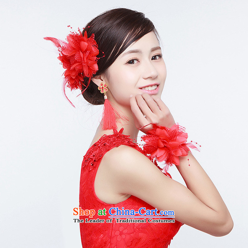 The first flower wrist married women spend a flower hairclips bridesmaid sister to spend a wrist strap to spend too much dance performances and flower wrist wedding flower show photo building red flower replacing