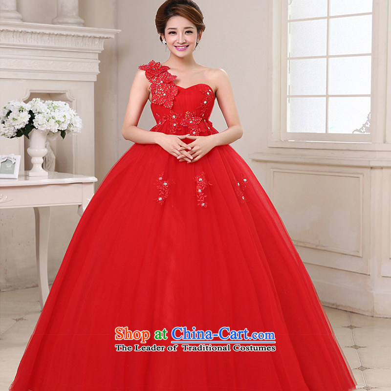 The following new paragraph on 2015 Korean Top Loin of stylish shoulder larger pregnant women thick M Graphics alignment to bind the bride thin with wedding made no size red returning