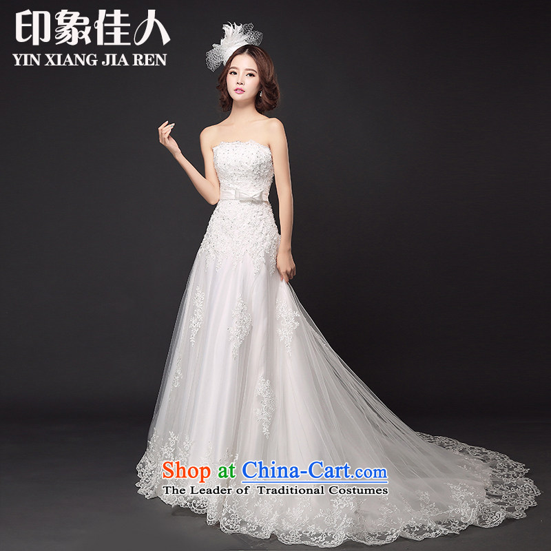 Starring impression new 2015 foutune crowsfoot bride anointed chest wedding small trailing lace straps marriage wedding?M