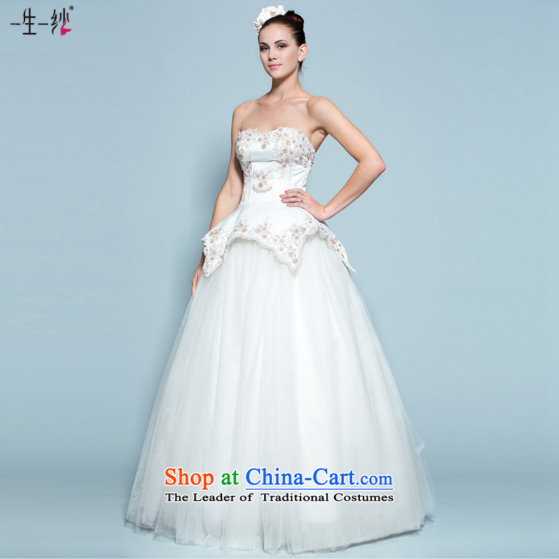 A lifetime of Bride Wedding 2015 new Korean Top Loin align to wipe the wedding chest video thin bon bon skirt 30140730 white tailored for not returning the not-for-