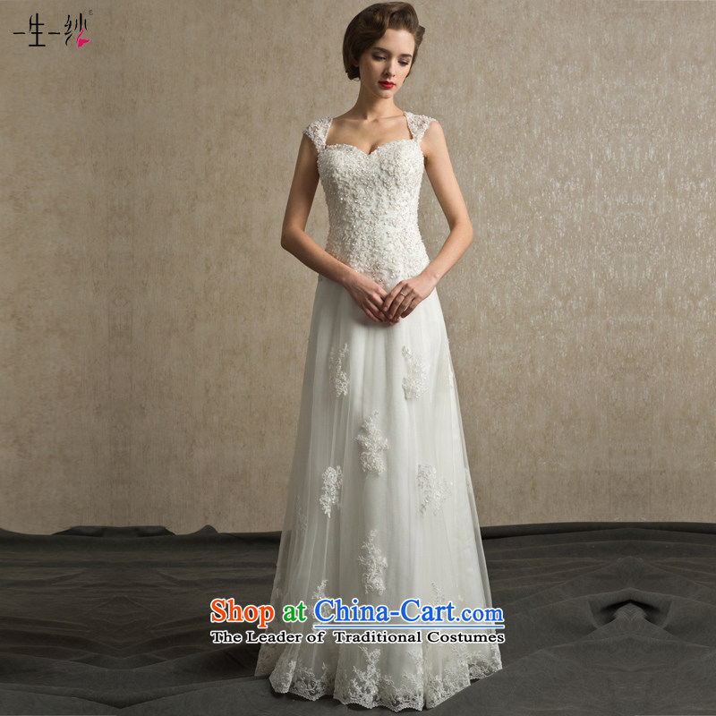 A lifetime of Bride Wedding 2015 new sexy back on-chip video thin shoulders Sau San to align the wedding?FG14001?white tailored for not returning the not-for-