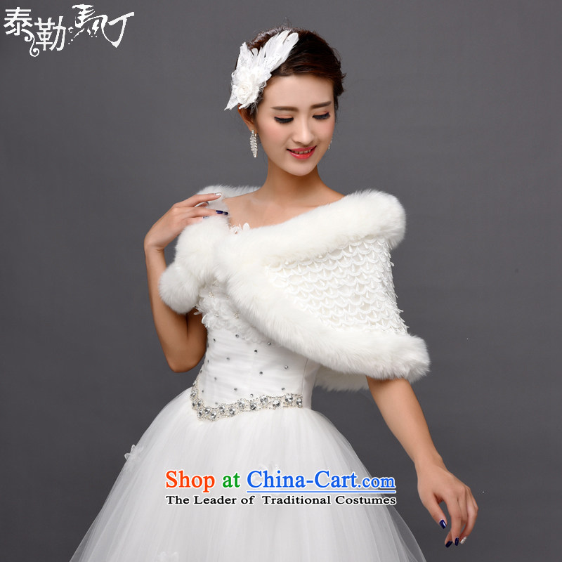 Taylor Martin 2015 winter wedding shawl marriage shawl thick hair shawl Korean bridal shawl warm dress shawl�A
