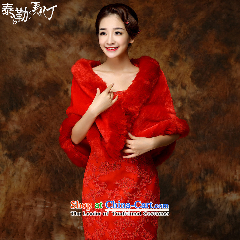 The new 2015 Martin Taylor bride gross shawl autumn and winter wedding dress shawl rabbit wool bridesmaid wedding shawl female?B