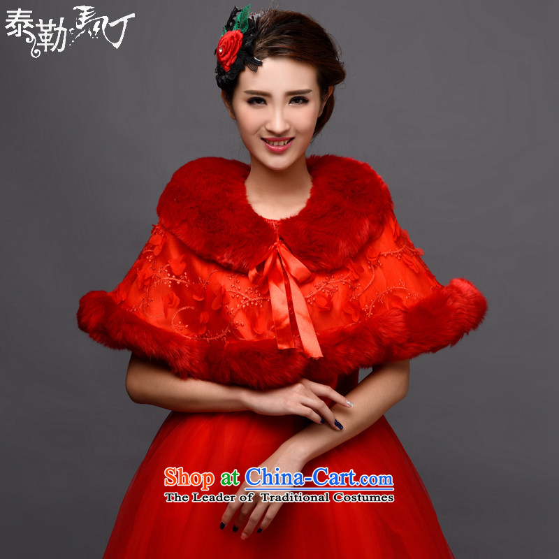 Martin Taylor new bride red 2015 gross shawl married women wedding dresses qipao shawl shawl winter gross thick-?H,