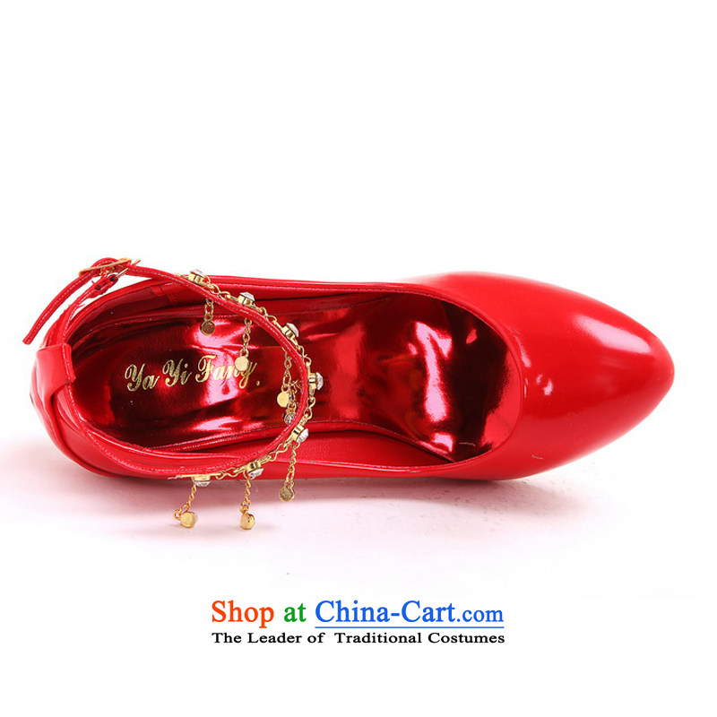 Rain-sang Yi New marriages shoes bridesmaid Shoes Show shoes Dance Shoe multi-color options the the high-heel shoes XZ067 red 37, rain-sang Yi shopping on the Internet has been pressed.