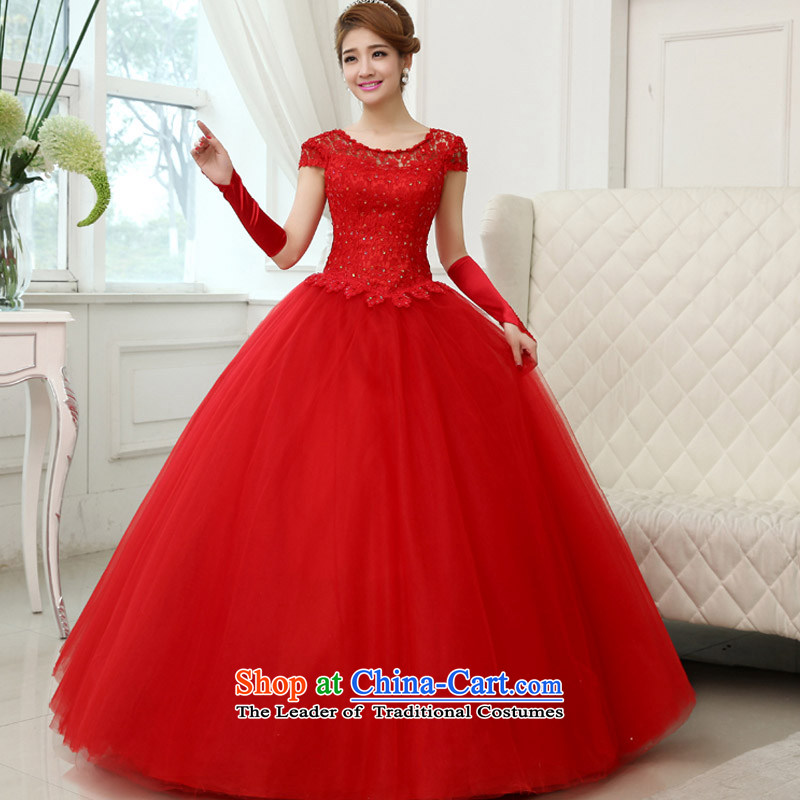 The knot True Love 2015 new marriages red dress autumn bows dress autumn and winter clothing, Sau San long wedding red S