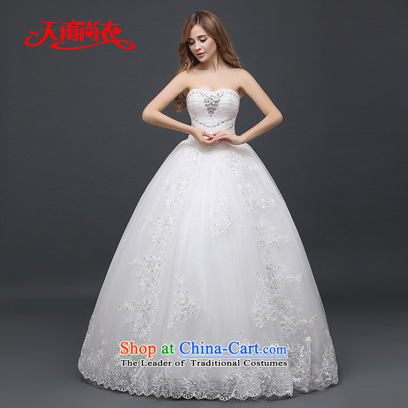 Rain-sang yi 2015 winter new bride wedding dress upscale anointed chest Korean large graphics thin lace diamond wedding HS940 White�XL