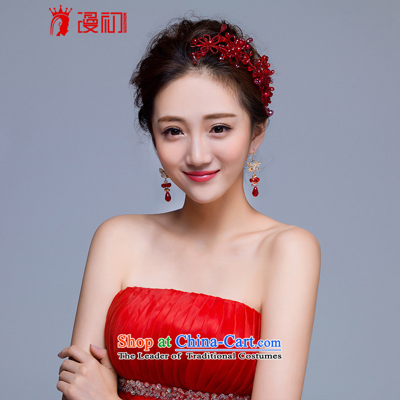 In the early 2015 new man married jewelry and ornaments bride wedding dresses accessories wedding jewelry and ornaments red