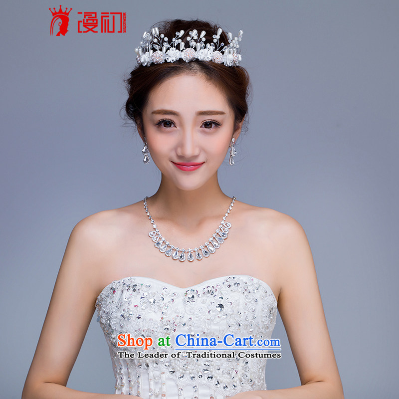 In the early 2015 new man married jewelry crown earrings necklace set bridal jewelry wedding accessories crown earrings necklace kit