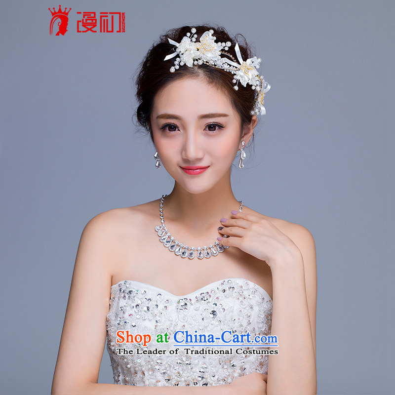 In the early 2015 new man married jewelry and ornaments bride necklace earrings pearl ornaments manually wedding jewelry and ornaments
