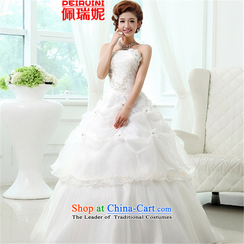 Pei, Connie?new anointed chest 2015 upscale billowy flounces wedding dresses winter White?M