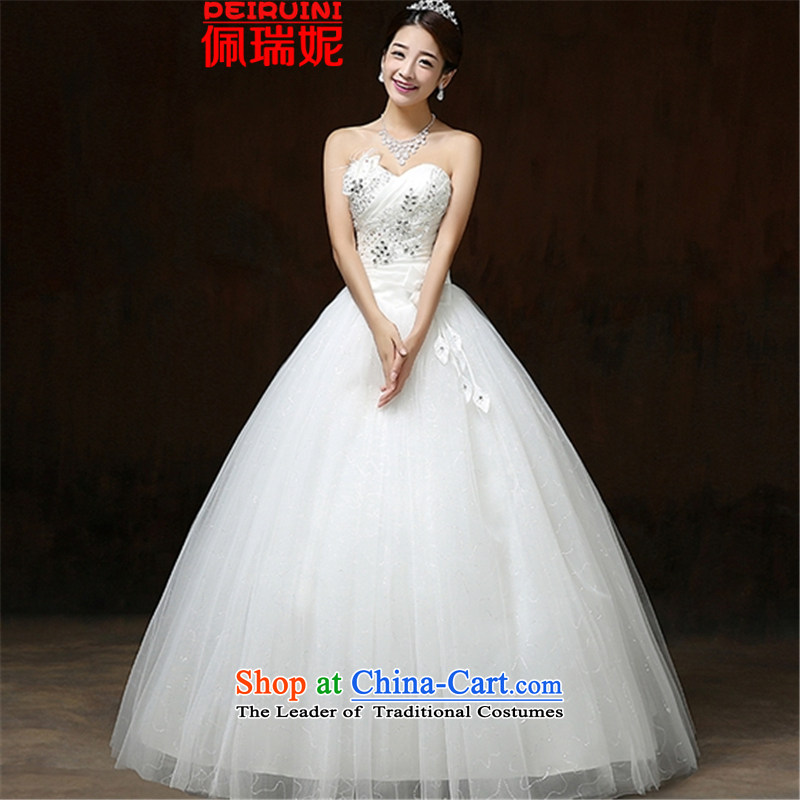 Pei, Connie?2015 autumn and winter wedding flower strap video Sau San thin dresses winter White?M