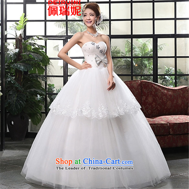 Pei, Connie?, wipe the chest to bind 2015 with lace white video thin wedding Sau San dresses winter White?M