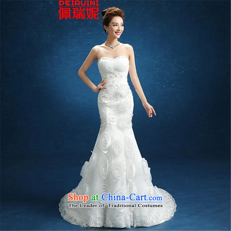 Pei, Connie?New 2015 crowsfoot wedding flower sexy S-Video tail small Sau San thin wiping the chest dresses winter white?S