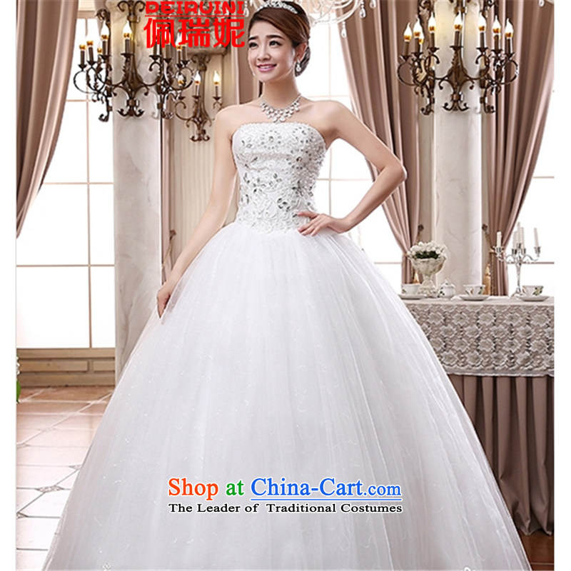 Pei, Connie?New Sau San anointed 2015 chest lace upscale wedding pure white dresses winter white?L