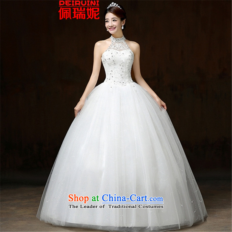 Pei, Connie?2015 wedding new Korean history to align the Hang Sau San bon bon skirt diamond dresses winter white?S