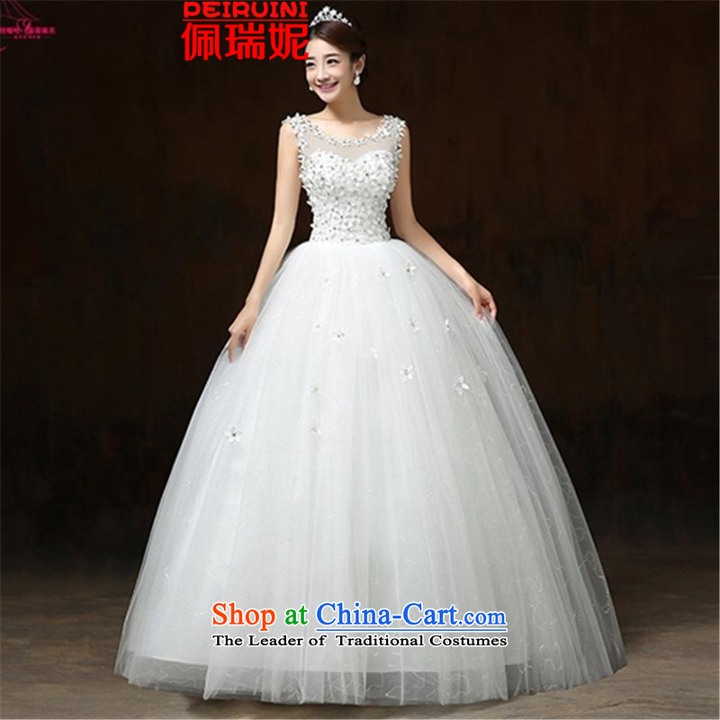 Pei, Connie?2015 New 2 shoulder straps flowers Sau San wedding dresses winter white?S