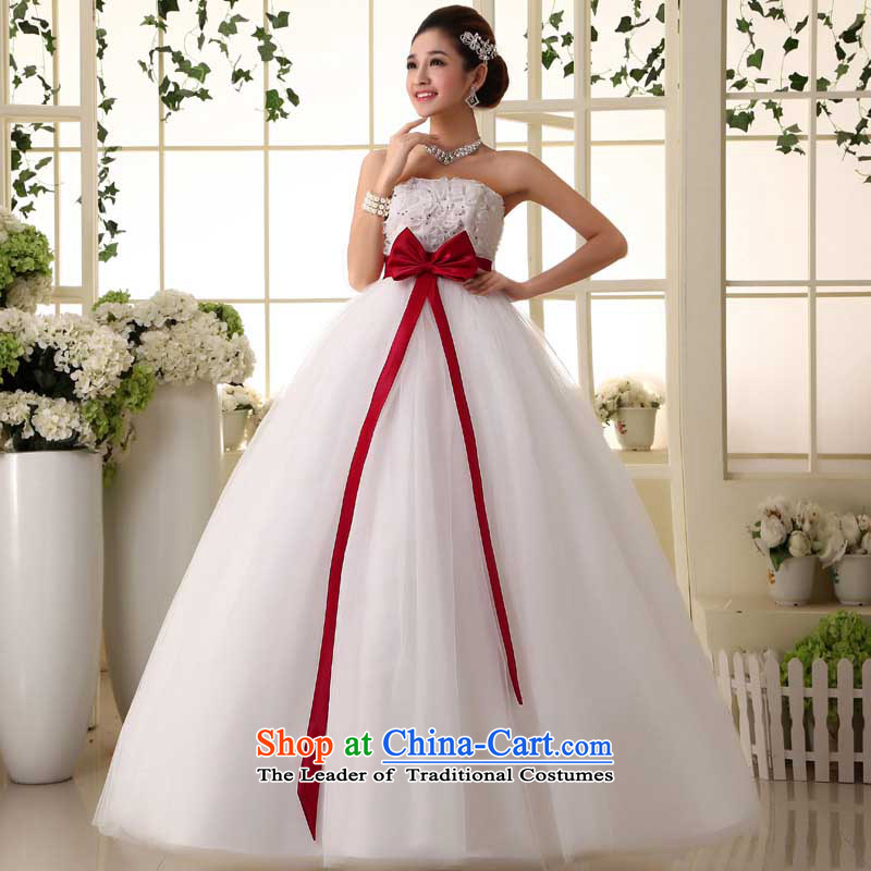 The new Korean Top Loin of pregnant women wedding bride wedding dress to align the large number of Princess Margaret thick mm white made size do not return Not Switch