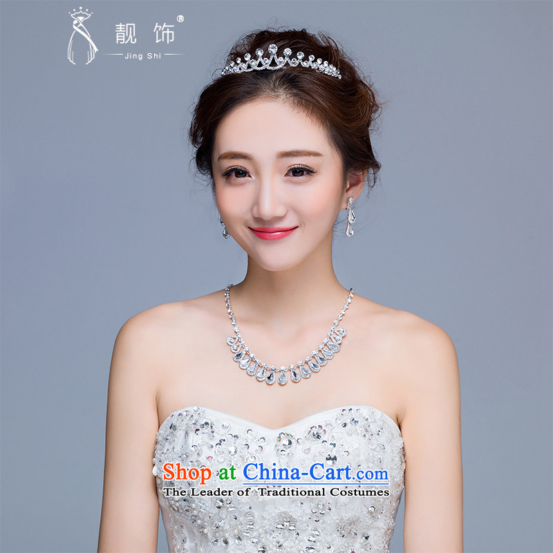 The new 2015 International Friendship marriage jewelry bride crown necklace earrings kit wedding dresses accessories crown earrings necklace kit