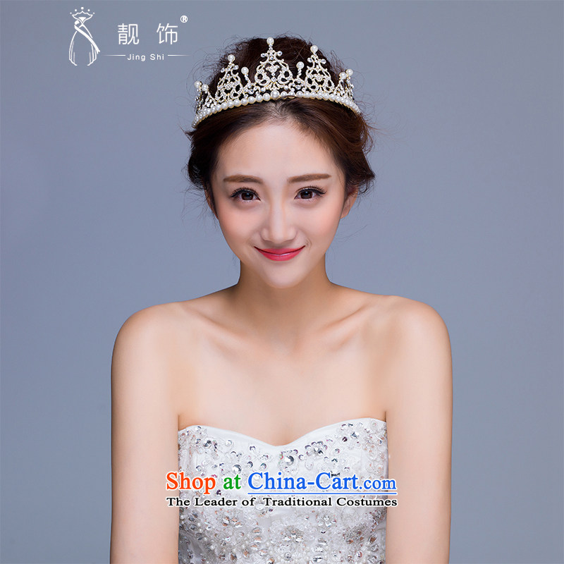The new 2015 International Friendship marriage princess pearl ornaments CROWN DELUXE QUEEN crown wedding dresses accessories White