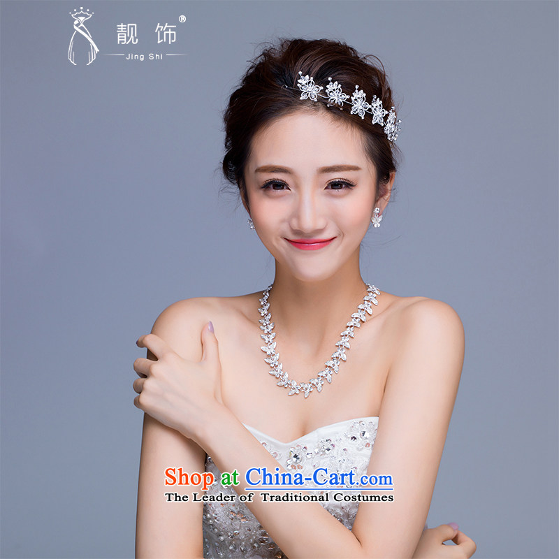 The new 2015 International Friendship marriages jewelry crown necklace earrings kit wedding dresses accessories accessories earrings Necklace