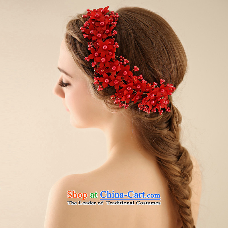 Time the new Syrian brides of leading international_ won wedding ornaments manually hair accessories wedding ceremony clothing accessories for accessories red
