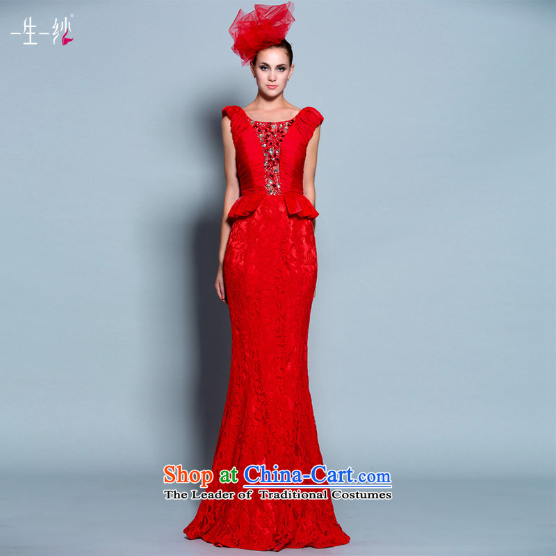 The Rhyme of Flower (Mugunghwa as soon as possible a lifetime of 2014 New lace a field for package shoulder crowsfoot bride bows dress 30240803 red 180/100A thirtieth day pre-sale